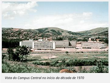 Vista do Campus Central no início da década de 1970