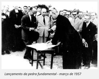Lançamento da pedra fundamental - março de 1957