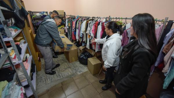 Entidades sociais recebem doações da Campanha do Agasalho