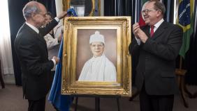 Galeria de reitores recebe o quadro do Ir. Joaquim Clotet