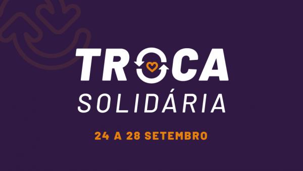 Projeto Troca Solidária recebe alimentos e doa livros
