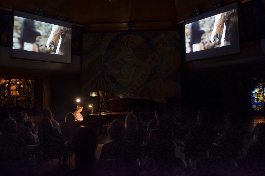 pucrs recitais, pucrs cultura, pampiano, Olinda Allessandrini, igreja cristo mestre