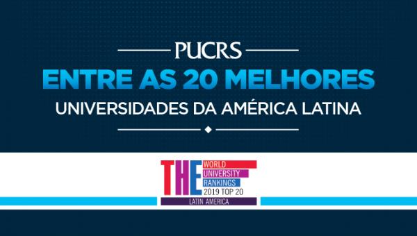 PUCRS está entre as 20 melhores da América Latina segundo ranking internacional