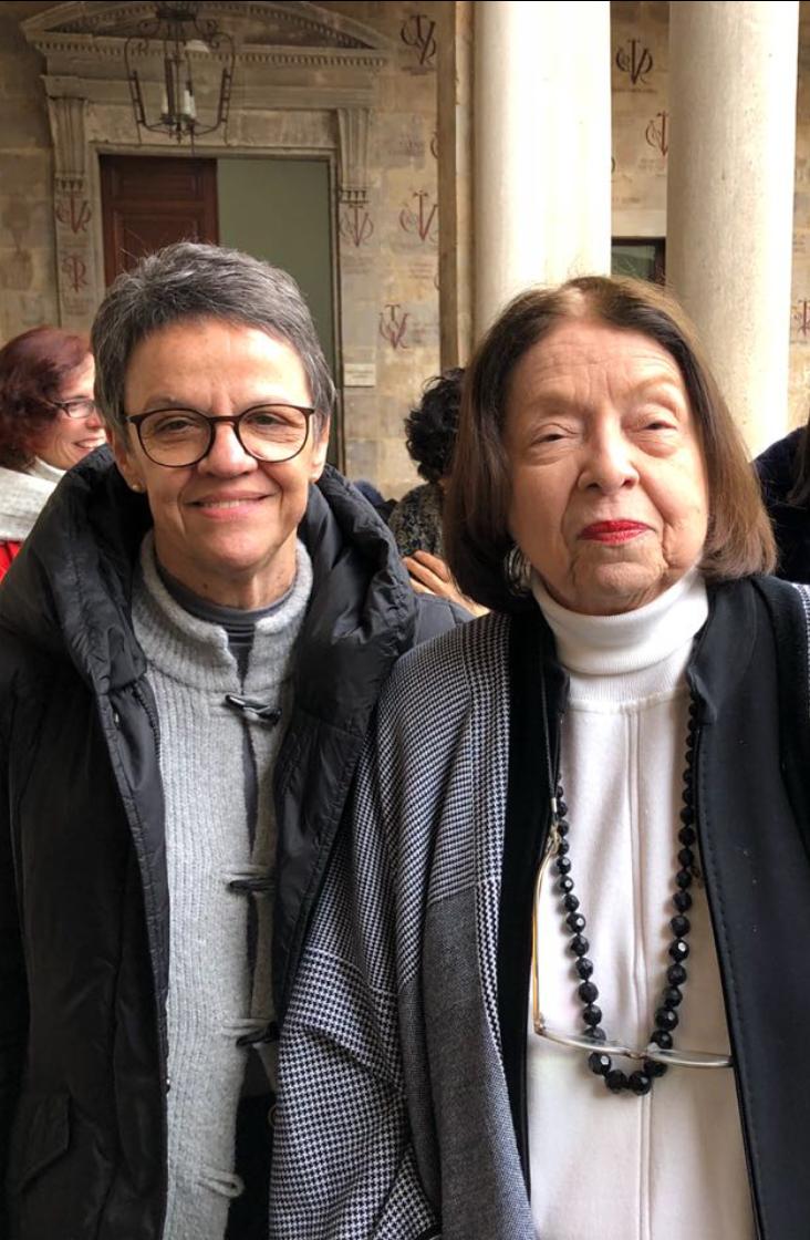 Maria Eunice e escritora Nélida Piñon