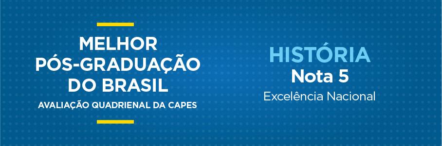 Melhor Pós-Graduação do Brasil - História, nota 5.
