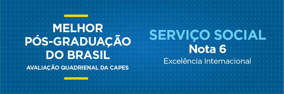 Melhor Pós-Graduação do Brasil - Serviço Social, nota 6.