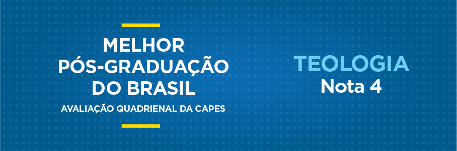 Melhor Pós-Graduação do Brasil - Teologia, nota 4.