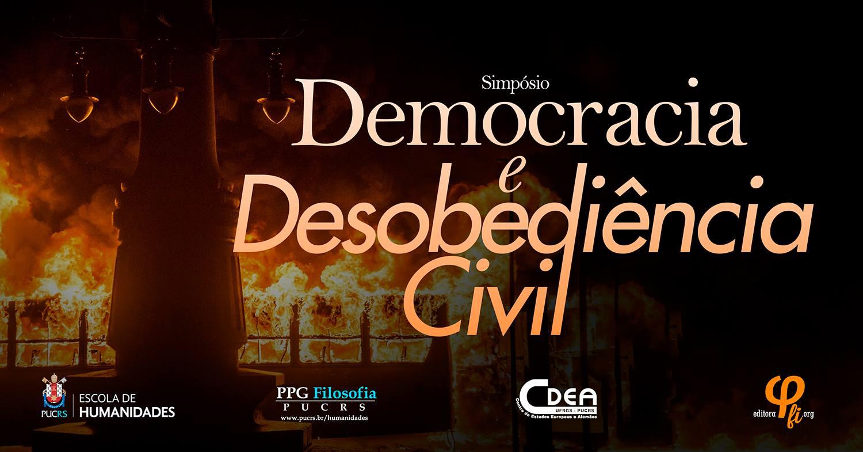 banner de simposio democracia e desibediencia cicl