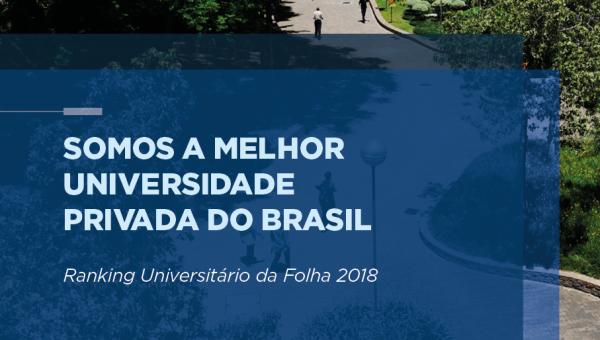 RUF 2018: PUCRS é a melhor universidade privada do Brasil pelo segundo ano consecutivo