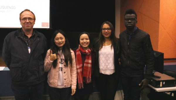 Exchange students discuss culture and religion