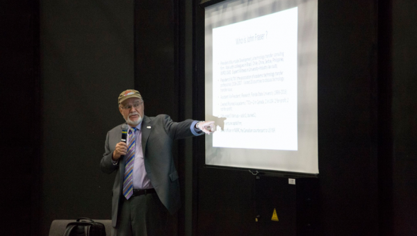 John Fraser delivers lecture on intellectual property in audiovisual studies
