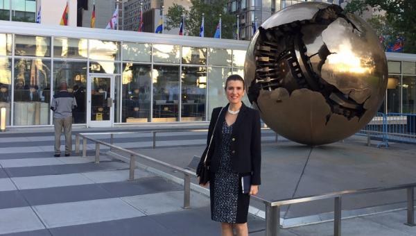 Psychology professor delivers lecture at UN event