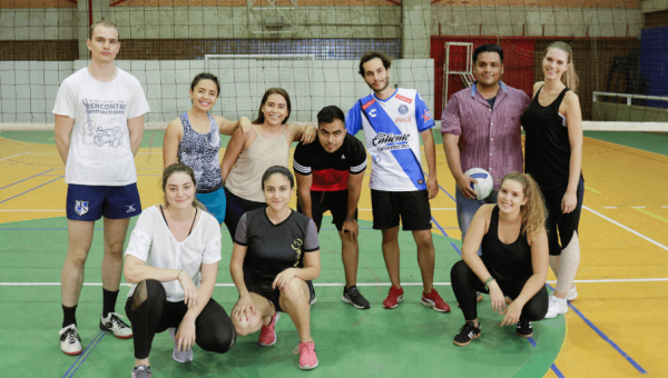 Integration activity for international students at Sports Park