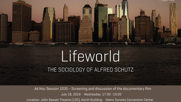 Documentary on Alfred Schütz exhibited in Germany and Canada