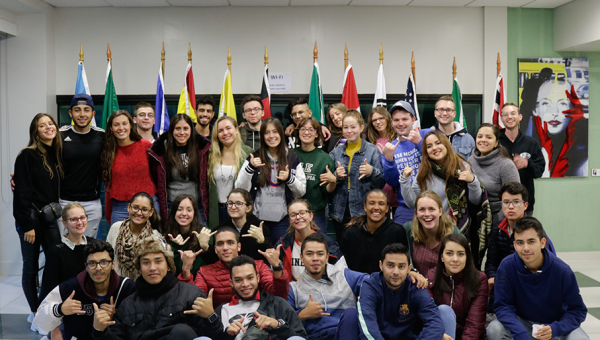 PUCRS opens its doors to 42 international mobility students