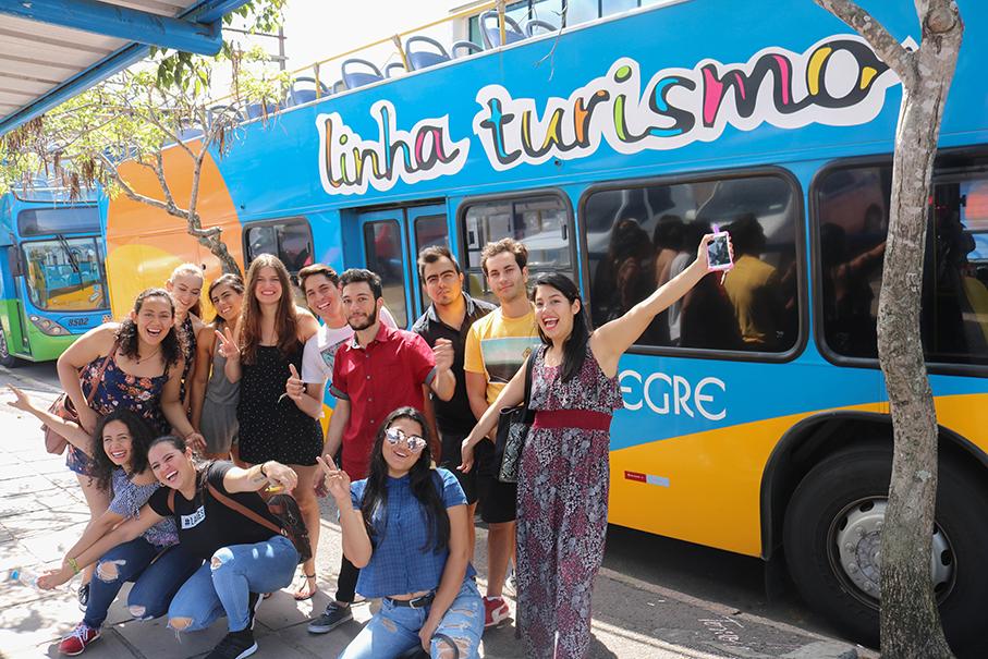 Bus tour in Porto Alegre