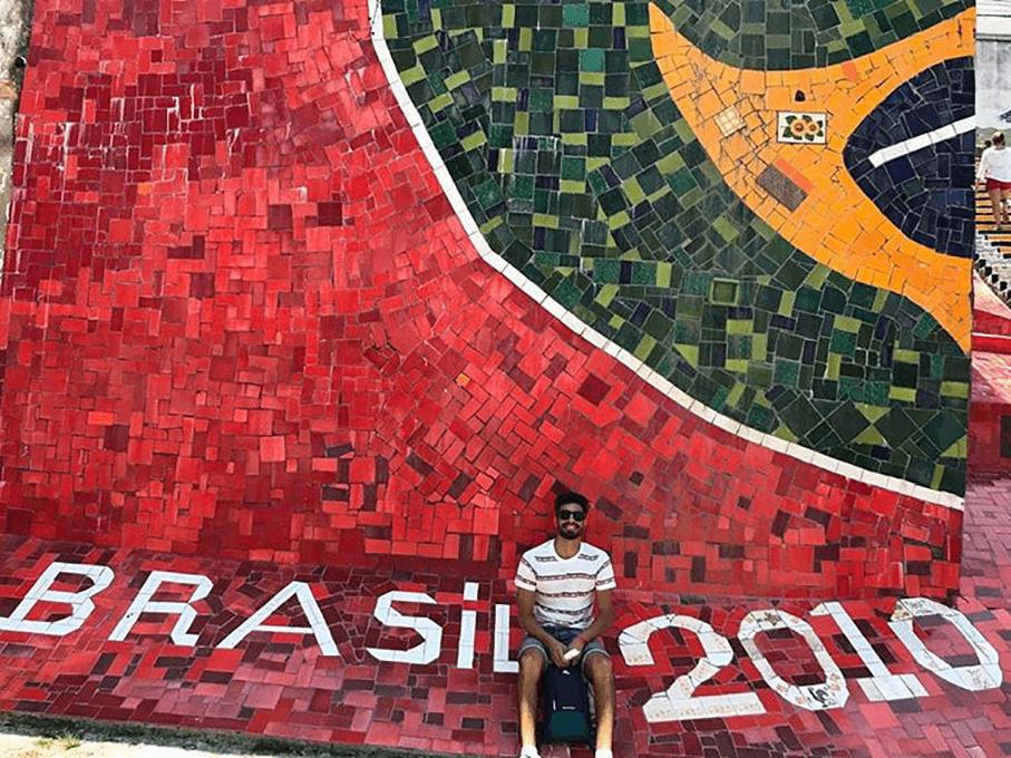 Hugo, from France, met São Paulo and Rio de Janeiro