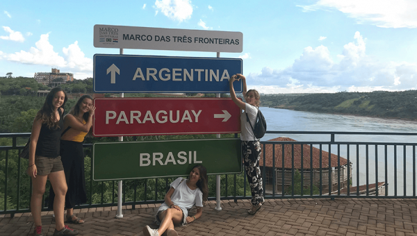 International students enjoy the summer break visiting other parts of Brazil