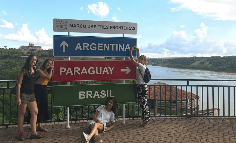Spanish students traveled to Argentina