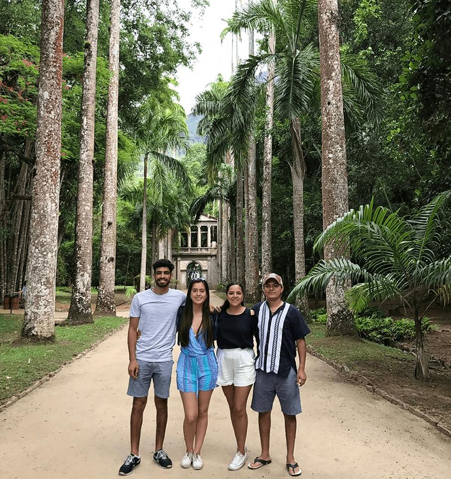 Hugo visited the Botanical Garden of Rio de Janeiro