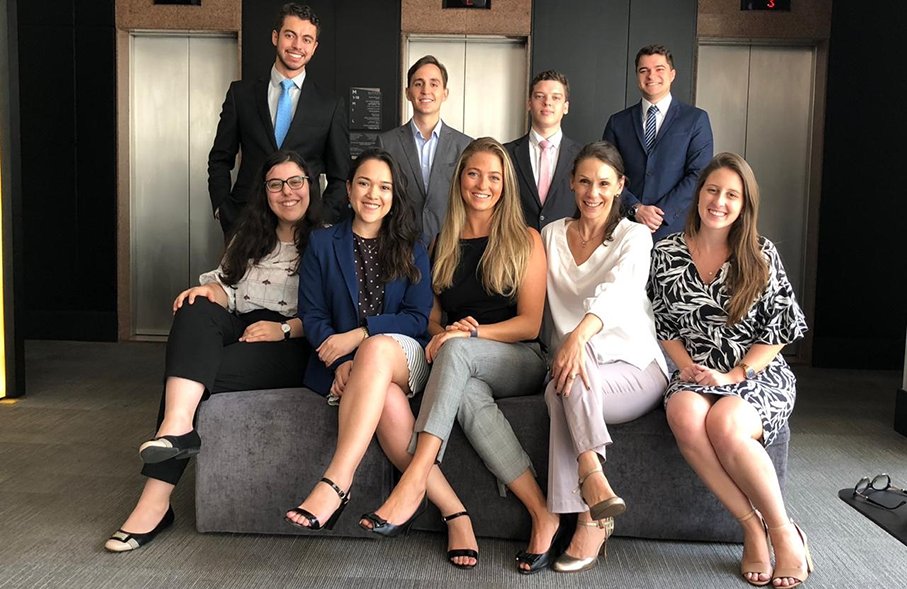 PUCRS' students and alumni in the competition Image: Law School