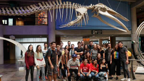 International students pay visit to PUCRS' Science and Technology Museum