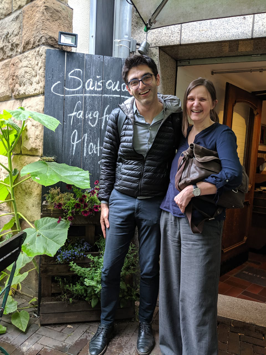 Brandelli and German Professor Gisela Steins
