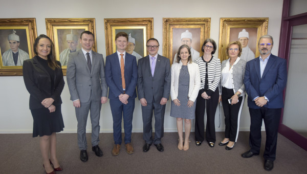 Representatives of the Australian Embassy welcomed at President's Office
