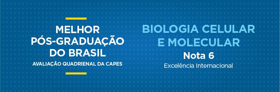 Melhor Pós-Graduação do Brasil - Biologia Celular e Molecular, nota 6.